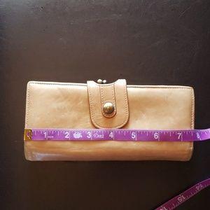 Nordstrom vintage leather beige wallet